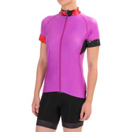 Shebeest Divine Cycling Jersey - Short Sleeve (For Women) in Beetroot - Closeouts