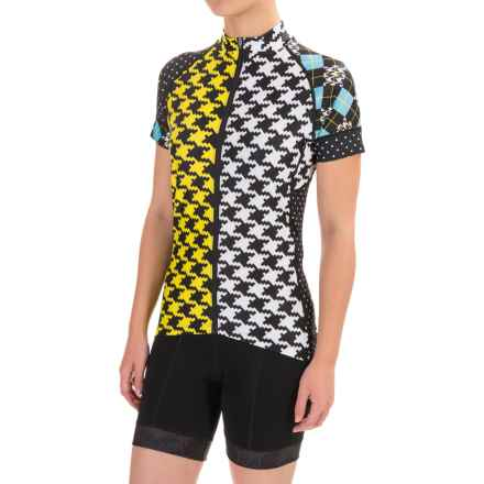 Shebeest Divine Cycling Jersey - Short Sleeve (For Women) in Britains Best Sun - Closeouts