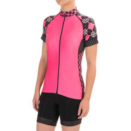 Shebeest Divine Cycling Jersey - Short Sleeve (For Women) in Prep School Prom - Closeouts