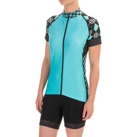 Shebeest Divine Cycling Jersey - Short Sleeve (For Women) in Prep School Scuba - Closeouts