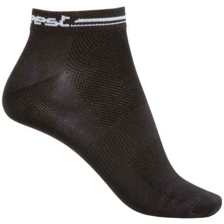 Shebeest Logo Cycling Socks - Below the Ankle (For Women) in Black - Closeouts