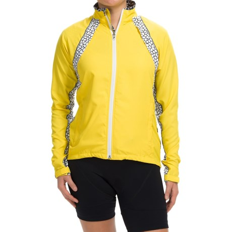 Shebeest Monarch Convertible Windshell Cycling Jacket UPF 45+ (For Women)