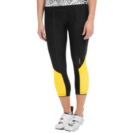 Shebeest Pedal Pusher Splice Cycling Knickers (For Women) in Sun - Closeouts