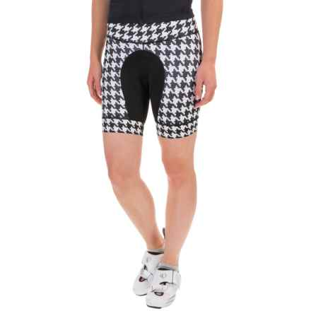 Shebeest Petunia Bike Shorts (For Women) in Houndstooth Black - Closeouts