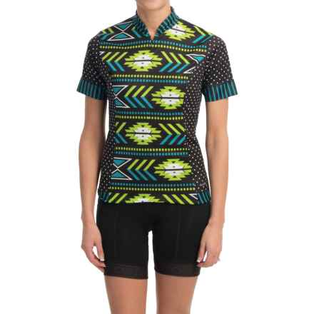 Shebeest S-Cut Cycling Jersey - UPF 45+, Short Sleeve (For Women) in Navajo Aquamarine - Closeouts