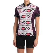 Shebeest S-Cut Cycling Jersey - UPF 45+, Short Sleeve (For Women) in Navajo Boysenberry - Closeouts