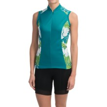 Shebeest S-Cut Cycling Jersey - UPF 45+, Sleeveless (For Women) in Poppy Aquamarine - Closeouts