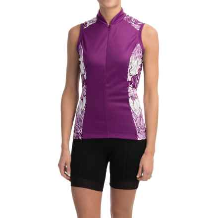 Shebeest S-Cut Cycling Jersey - UPF 45+, Sleeveless (For Women) in Poppy Boysenberry - Closeouts
