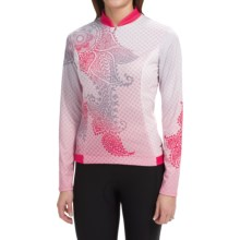 Shebeest S-Cut Mehndi Cycling Jersey - UPF 45+, Long Sleeve (For Women) in Watermelon - Closeouts