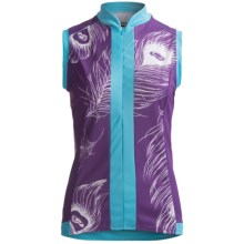 Shebeest S-Cut Print Cycling Jersey - Sleeveless (For Women) in Peacock Amethyst - Closeouts