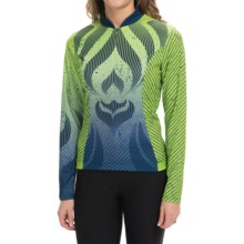 Shebeest S-Cut Tribal Cycling Jersey - UPF 45+, Long Sleeve (For Women) in Keylime - Closeouts