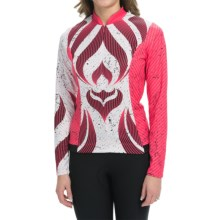 Shebeest S-Cut Tribal Cycling Jersey - UPF 45+, Long Sleeve (For Women) in Watermelon - Closeouts