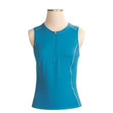 Shebeest S-Cut X-Static® Cycling Jersey - Zip Neck, Sleeveless (For Women) in Capri Blue - Closeouts
