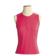 Shebeest S-Cut X-Static® Cycling Jersey - Zip Neck, Sleeveless (For Women) in Shock Pink - Closeouts