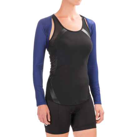 Shebeest SB Cycling Shrug - UPF 45+ (For Women) in Cobalt - Closeouts