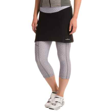 Shebeest SB Cycloskort Capris (For Women) in Monarch/Steel - Closeouts