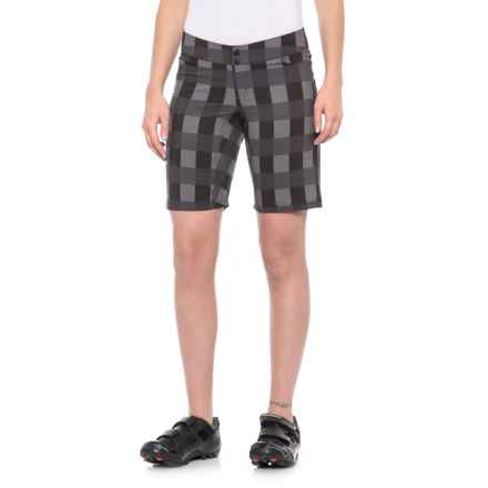 Shebeest Skinny Americano Bike Shorts (For Women) in Gingham Seal - Closeouts
