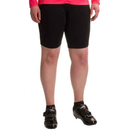 Shebeest Triple S Bike Shorts (For Plus Size Women) in Black - Closeouts