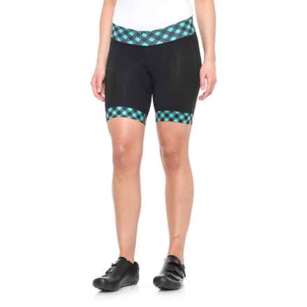 Shebeest Triple S Ultimo Cycling Shorts (For Women) in Gingham Style Vintage Mint - Closeouts