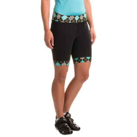 Shebeest Triple S Ultimo Cycling Shorts (For Women) in Prep School Scuba - Closeouts