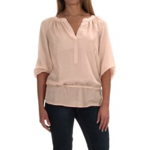 Sheer Elastic-Waist Blouse - Long Sleeve (For Women) in Pink - 2nds
