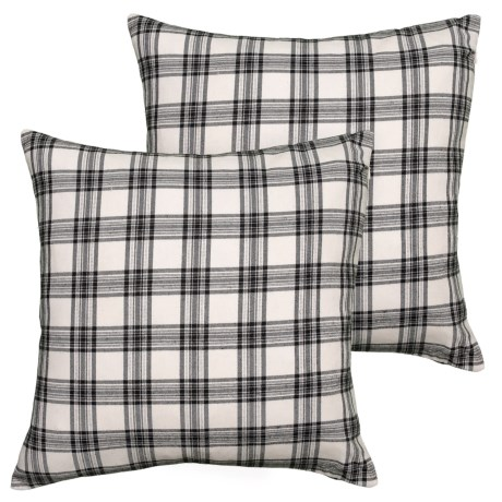 """Sheffield Home Black Plaid Throw Pillows 40Pack 400x400"""" Feathers Amazing Sheffield Home Decorative Pillows"""