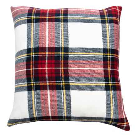 "Sheffield Home Multi-Plaid Throw Pillow - 20x20"", Feathers in Multi - Closeouts"