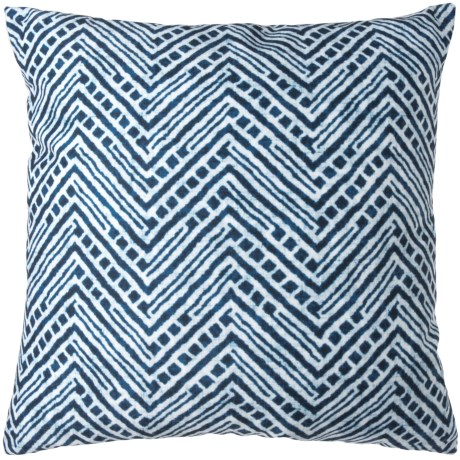 "Sheffield Home Printed Shibori Pattern Decor Pillow - 20x20"", Duck Feathers in Blue"