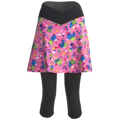 Sheila Moon Isis Cycling Knicker Skort (For Women) in Pink Bubble