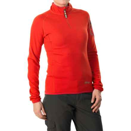 Sherpa Adventure Gear Dikila Shirt - UPF 50+, Zip Neck, Long Sleeve (For Women) in Dasain Red - Closeouts