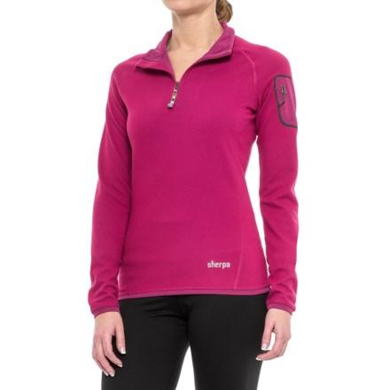 c9f42958a Sherpa Adventure Gear Dikila Shirt - UPF 50+, Zip Neck, Long Sleeve (