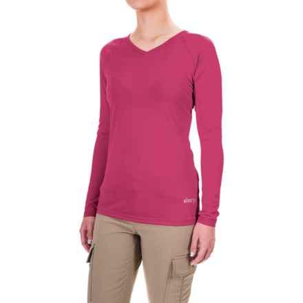 Sherpa Adventure Gear Rinchen T-Shirt - V-Neck, Long Sleeve (For Women) in Mandala Pink - Closeouts