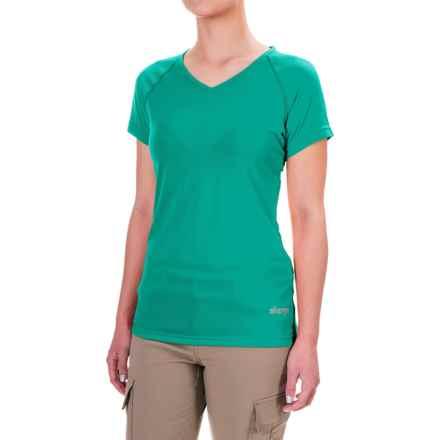 Sherpa Adventure Gear Rinchen T-Shirt - V-Neck, Short Sleeve (For Women) in Yuu Blue - Closeouts