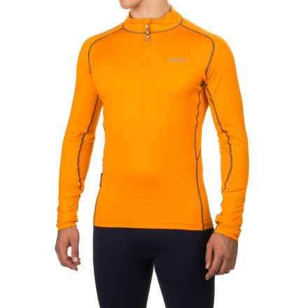 Sherpa Adventure Gear Tchimi Polartec® Power Stretch® Base Layer Top - UPF 15, Zip Neck, Long Sleeve (For Men) in Stupa Gold/Grey Stitch - Closeouts