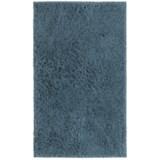 "Sherpa Bath Mat Collection Blue Bath Rug - 21x34"""