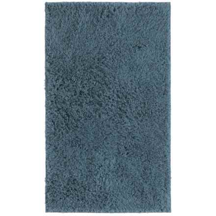 "Sherpa Bath Mat Collection Blue Bath Rug - 21x34"" in Blue - Closeouts"
