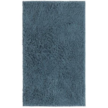 "Sherpa Bath Mat Collection Blue Bath Rug - 21x34"" in Blue"