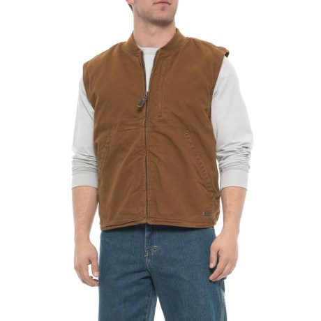 Sherpa-Lined Duck Work Vest (For Men)