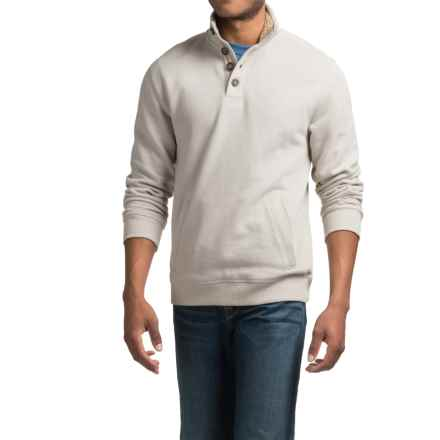 Sherpa-Lined Sweatshirt with Pockets (For Men) in Cream - 2nds