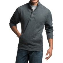Sherpa-Lined Sweatshirt with Pockets (For Men) in Dark Grey Heather - 2nds