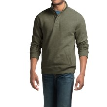 Sherpa-Lined Sweatshirt with Pockets (For Men) in Green Heather - 2nds