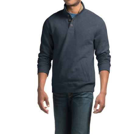 Sherpa-Lined Sweatshirt with Pockets (For Men) in Navy Heather - 2nds