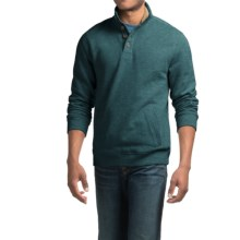 Sherpa-Lined Sweatshirt with Pockets (For Men) in Spruce Heather - 2nds