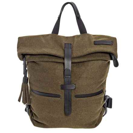 Sherpani Amelia Vintage Backpack Cotton Canvas For Women In Loden Closeouts