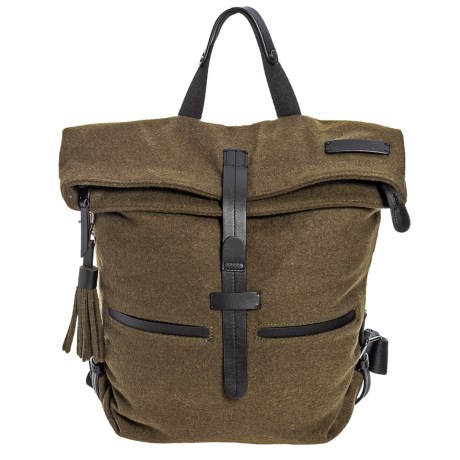 Sherpani Amelia Vintage Backpack - Cotton Canvas (For Women) in Loden