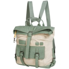 Sherpani Amelia Vintage Backpack - Cotton Canvas (For Women) in Sage - Closeouts
