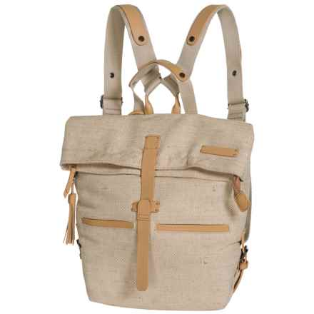 Sherpani Amelia Vintage Backpack - Cotton Canvas (For Women) in Vachetta - Closeouts