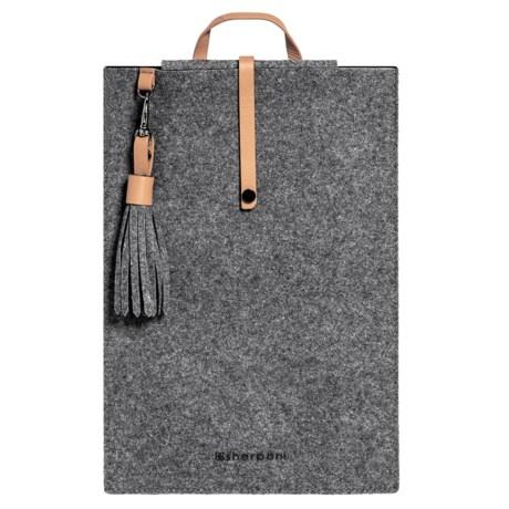 "Sherpani Arlo Tablet Case - 11"", Wool-Leather in Chai"