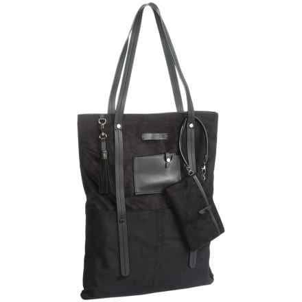 Sherpani Ethos Hadley Laptop Tote Bag - Suede (For Women) in Onyx - Closeouts