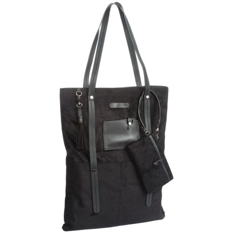 Sherpani Ethos Hadley Laptop Tote Bag - Suede (For Women) in Onyx
